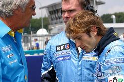 Flavio Briatore and Jarno Trulli