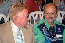 Cérémonie de remise des prix du Mans: Don Panoz et Henri Pescarolo