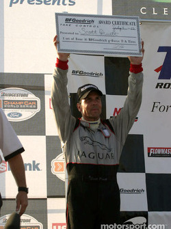 Podium: race winner Scott Pruett