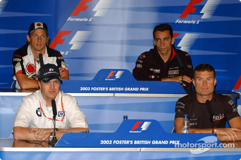 Conferencia de prensa FIA: Ralf Schumacher, David Coulthard, Jenson Button y Justin Wilson