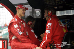 Michael Schumacher and Ross Brawn