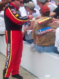 Joe Nemechek signs autographs