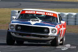 Chris Stillwell gets his Mustang sideways during the historic touring car practice