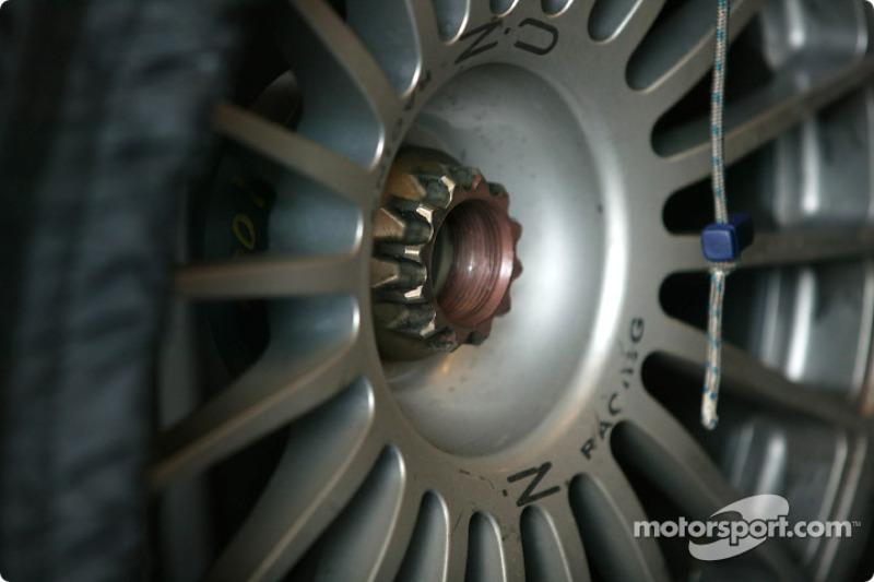 Detail of a OZ Racing wheel