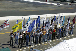 Flag holders get prepared