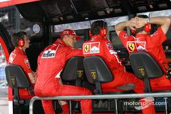 Michael Schumacher at Ferrari pitwall