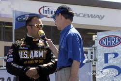 Tony Schumacher thanks the US Armed Forces for their work abroad