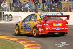 Paul Radisich heads onto pit straight