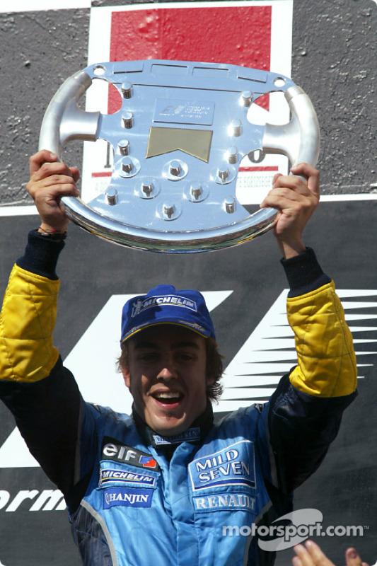 Fernando Alonso, 1º en el GP de Hungría 2003