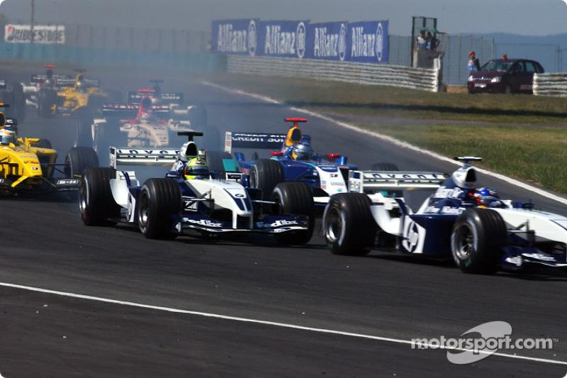 Inicio: Ralf Schumacher y Juan Pablo Montoya
