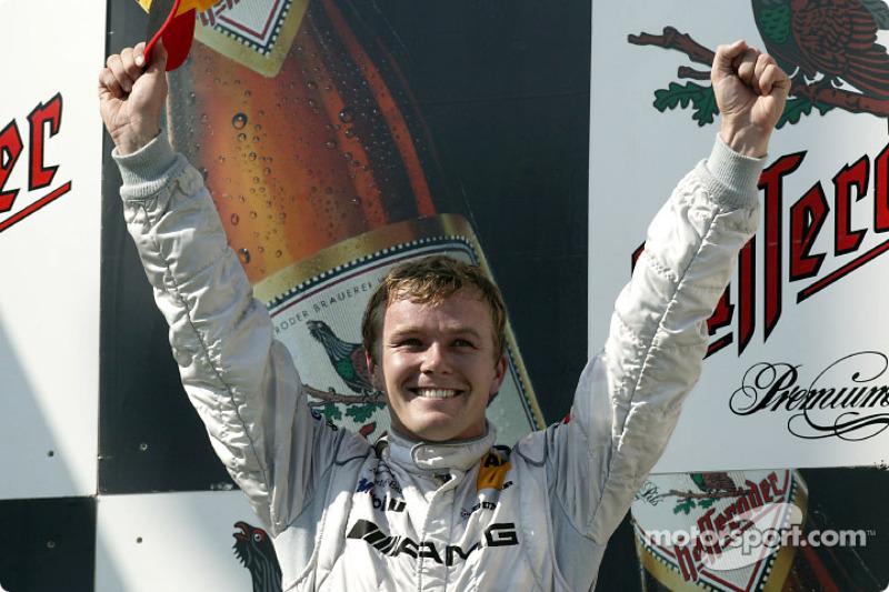 Podium: race winner Marcel Fassler