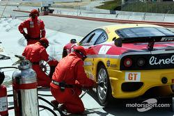 #29 JMB Racing USA/Team Ferrari Ferrari 360 Modena in for a pit stop