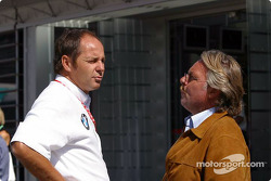 Gerhard Berger and Keke Rosberg