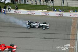 Kimi Raikkonen en el desfile de pilotos