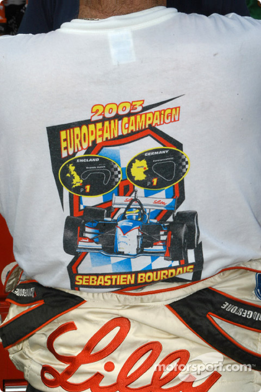 Tee-shirt de Sébastien Bourdais