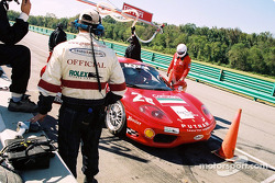 Pitstop for #28 Scuderia Ferrari of Washington Ferrari 360 Challenge: Jeff Segal, Jim Wilson, Asher Hyman