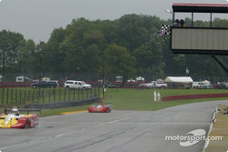 Jeffrey Miller takes the checkered flag