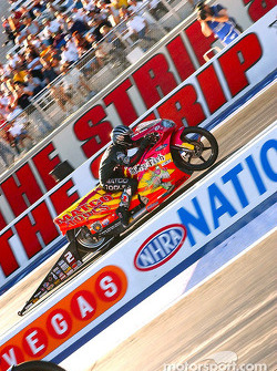 Craig Treble was the winner of the Pro Stock Bike class