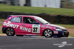 #37 Peter Leemhuis Mitsubishi Mirage: Peter Leemhuis, Shane Brangwin, Tony Alford, John Grounds
