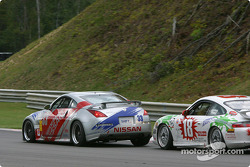 #33 Unitech Racing Nissan 350Z: Mike Cronin, Stu Hayner, and #18 TPC Racing Porsche GT3 Cup: Michael Levitas, Randy Pobst