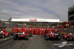 The team and the F2003-GAs