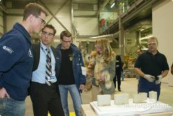 Ralf Schumacher visits the F1 engine foundry at the BMW plant in Landshut