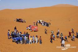Trafic jam in the dunes