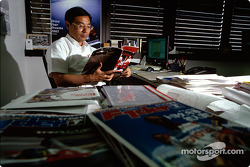 Keizo Takahashi, Director Technical Coordination, in his office