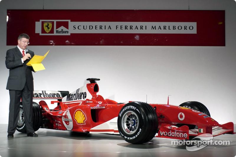 Ross Brawn talks about the new Ferrari F2004