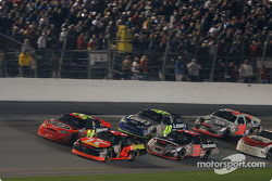 Jamie McMurray leads Jeff Gordon