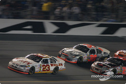 Dave Blaney leads Elliott Sadler and Kevin Harvick