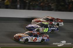 Mark Martin, Jimmie Johnson and Dale Earnhardt Jr.