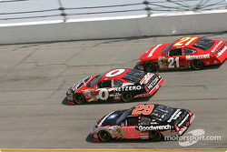 Ward Burton, Ricky Craven and Kevin Harvick