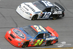 Jeff Gordon and Ryan Newman