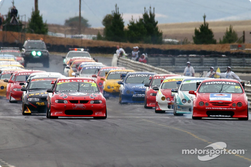 The start for Race 2 which was a reverse grid