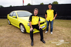 Eddie Jordan and Giorgio Pantano at a promo event