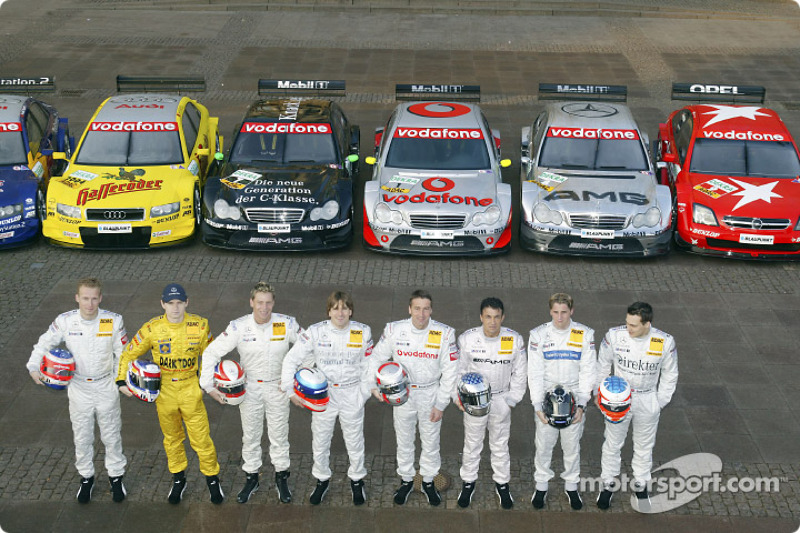 The AMG-Mercedes works drivers: Stefan Mücke, Jarek Janis, Bernd Mayländer, Markus Winkelhock, Bernd