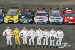The AMG-Mercedes works drivers: Stefan Mücke, Jarek Janis, Bernd Mayländer, Markus Winkelhock, Bernd Schneider, Jean Alesi, Christijan Albers and Gary Paffett