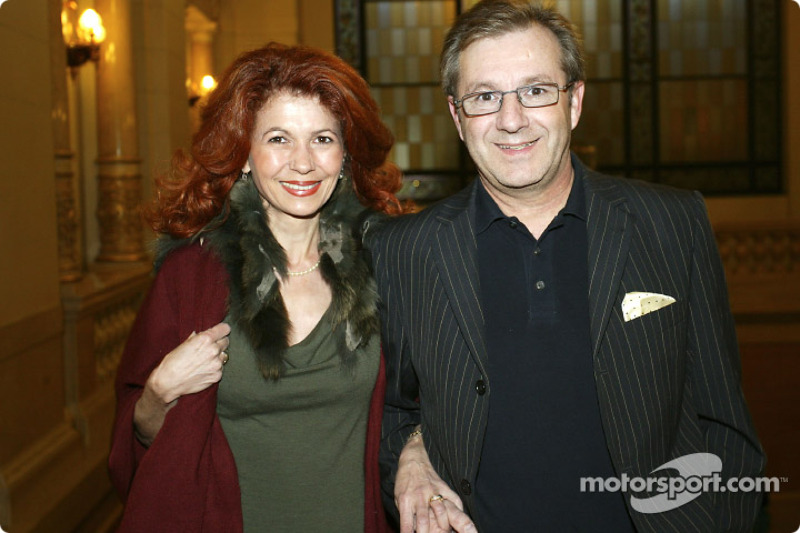Jan Hofer with his wife
