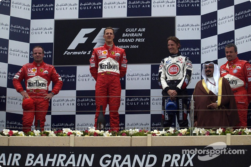Podium: 1. Michael Schumacher, Ferrari; 2. Rubens Barrichello, Ferrari; 3. Jenson Button, BAR