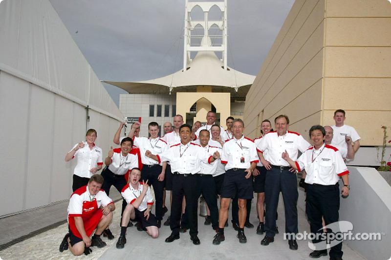 Bridgestone feiert den Sieg in Bahrain