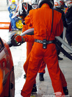 PWR practice their pit stops