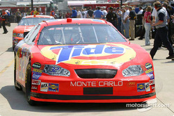 Ricky Craven in the garage area