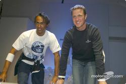 Ralf Schumacher and a model