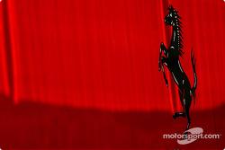 Cavallino Rampante on Ferrari transporter