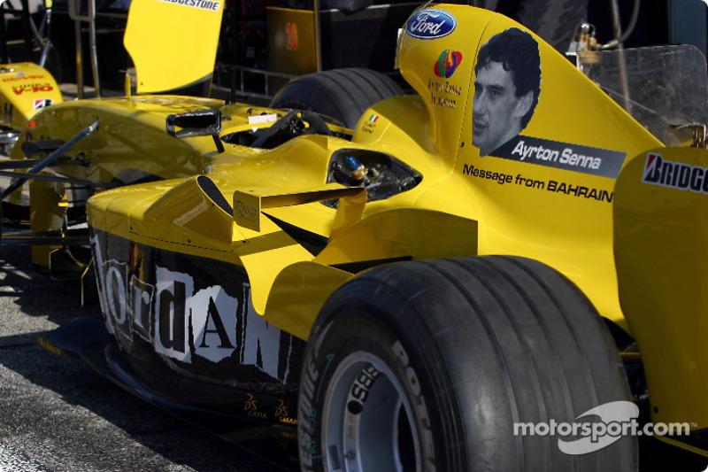 Homenaje a Ayrton Senna en el Jordán