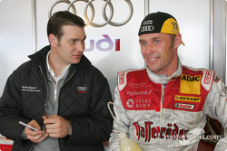 Tom Kristensen and race engineer Franco Chiocchetti