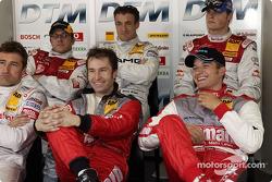 Bernd Schneider, Heinz-Harald Frentzen, Timo Scheider, Christian Abt, Jean Alesi and Martin Tomczyk