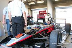 Robbie Pecorari in his Formula Ford Zetec