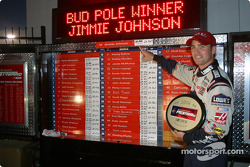 Bud pole winner Jimmie Johnson